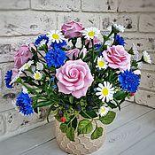 Большой летний букет с цветами