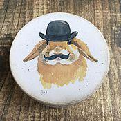 Для дома и интерьера ручной работы. Ярмарка Мастеров - ручная работа Джентельмен - шкатулочка для мелочей. Handmade.