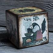 """Куклы и игрушки ручной работы. Ярмарка Мастеров - ручная работа Кубик-погремушка """"Сказки"""". Handmade."""