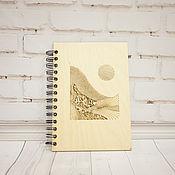 Блокноты ручной работы. Ярмарка Мастеров - ручная работа Блокнот с деревянной обложкой. Handmade.