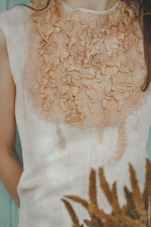 """Топы ручной работы. Ярмарка Мастеров - ручная работа. Купить Валяный Топ """"Розовый песок"""". Handmade. Однотонный, авторская одежда"""