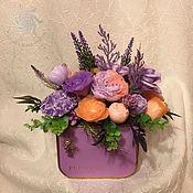 """Украшения ручной работы. Ярмарка Мастеров - ручная работа Букет цветов  из мыла """"Сиреневый рассвет"""". Handmade."""