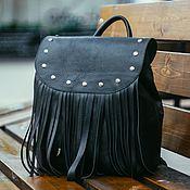 Backpacks handmade. Livemaster - original item Backpack leather female
