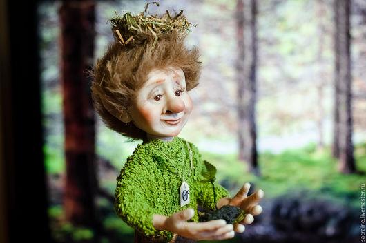 Коллекционные куклы ручной работы. Ярмарка Мастеров - ручная работа. Купить Леший Руфус. Handmade. Салатовый, коллекционная кукла, нитки