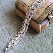 Украшения handmade. Livemaster - original item beaded decoration. Beaded bracelet with Swarovski crystals. Handmade.