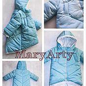 Парки ручной работы. Ярмарка Мастеров - ручная работа Детская нежно-голубая парка, куртка. Handmade.