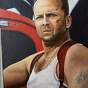Картины и панно handmade. Livemaster - original item The painting is a portrait of John McClane, oil painting. Handmade.