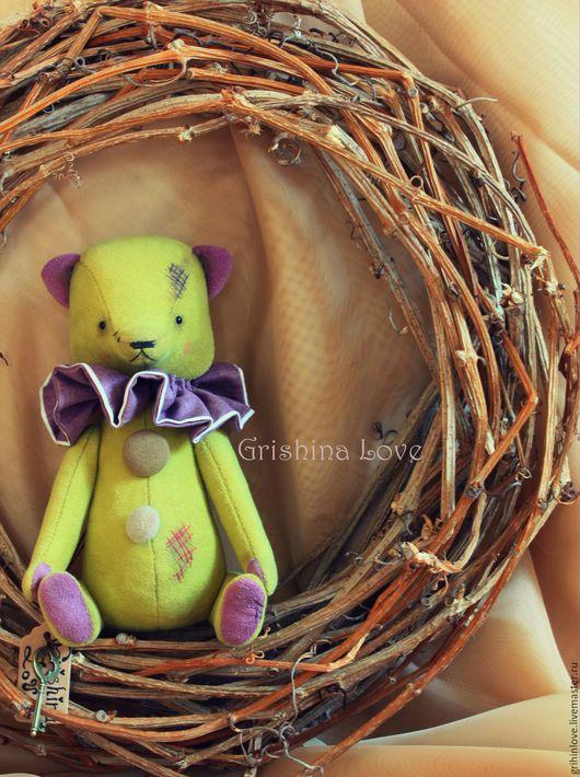 Мишки Тедди ручной работы. Ярмарка Мастеров - ручная работа. Купить Daddi-оливка.. Handmade. Оливковый, любимый мишка