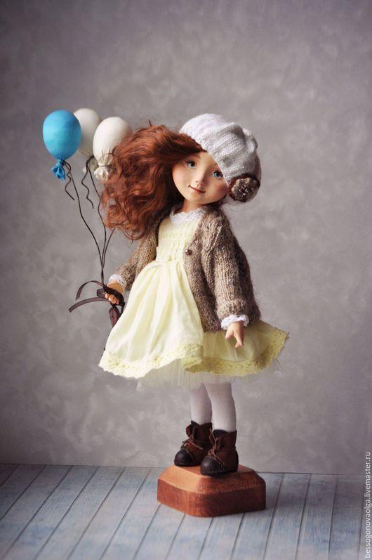 Авторская коллекционная статичная кукла ВОЗДУШНОЕ НАСТРОЕНИЕ Материал Paperclay +Fimo. Полностью на металлическом каркасе. Голова на шарнире (поворачивается).  29 см. Единственный экземпляр.