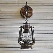 Бра ручной работы. Ярмарка Мастеров - ручная работа Бра Керосинка электрическая настенная лампа в лофт ретро рустик стиле. Handmade.