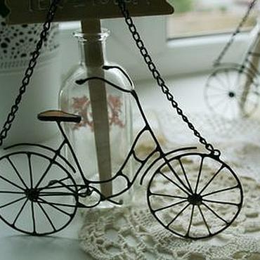 Для дома и интерьера ручной работы. Ярмарка Мастеров - ручная работа Подвеска велосидед. Handmade.
