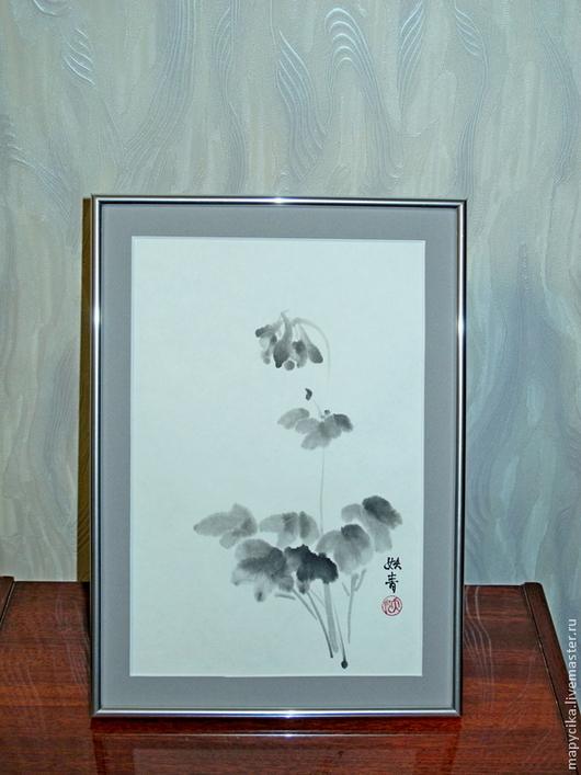 """Картины цветов ручной работы. Ярмарка Мастеров - ручная работа. Купить Картина """"Нежность"""". Handmade. Чёрно-белый, подарок"""