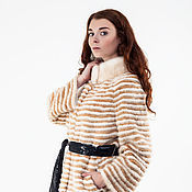 Одежда handmade. Livemaster - original item Fur coat combined 90 cm.. Handmade.