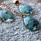 """Комплект """"Весеннее небо"""" гортензии, голубой подарок девушке"""