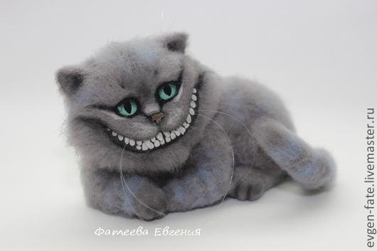 Сказочные персонажи ручной работы. Ярмарка Мастеров - ручная работа. Купить Чеширский кот (Алиса в стране чудес). Handmade. Серый