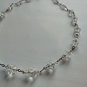 Винтаж handmade. Livemaster - original item Antique necklace made of rock crystal 30s vintage on the neck. Handmade.