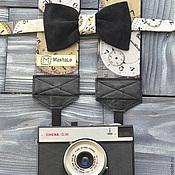 Аксессуары ручной работы. Ярмарка Мастеров - ручная работа Набор Стильный Фотограф Time / Ремень для фотоаппарата. Handmade.