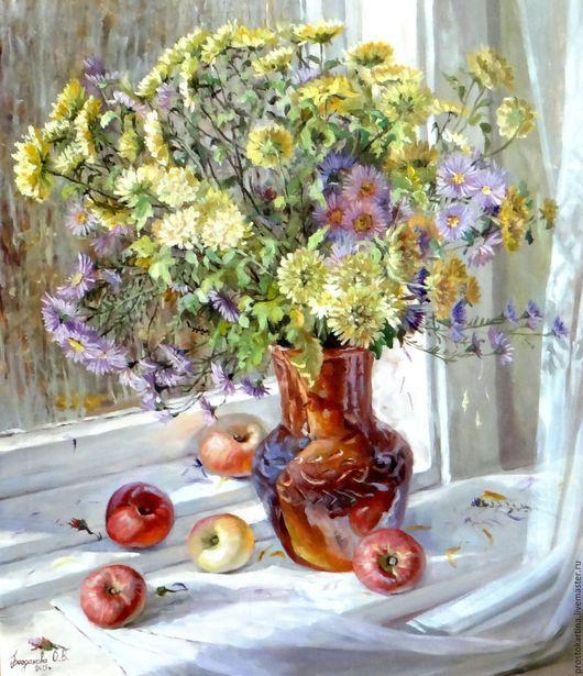 """Картины цветов ручной работы. Ярмарка Мастеров - ручная работа. Купить """"Желтые цветы"""". Handmade. Разноцветный, натюрморт с цветами"""