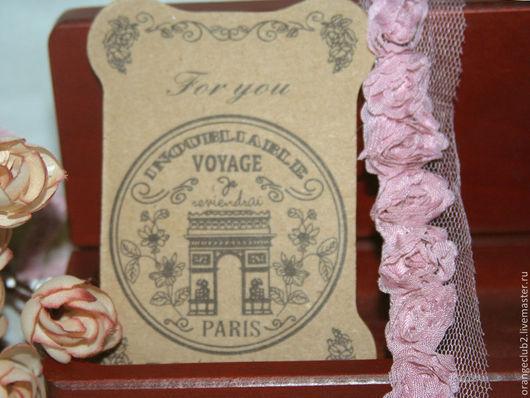 Шитье ручной работы. Ярмарка Мастеров - ручная работа. Купить Кружево 3D пыльно розовое. Handmade. Кружево, 100% хлопок