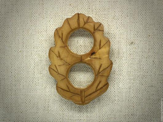 """Заколки ручной работы. Ярмарка Мастеров - ручная работа. Купить Пряжка для платка """"Дубовый лист"""". Handmade. Коричневый, натуральная древесина"""