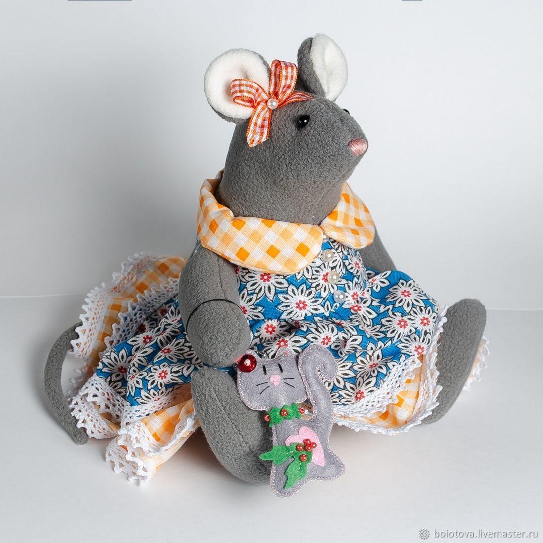 Броши ручной работы. Ярмарка Мастеров - ручная работа. Купить Мышка, символ 2020 года. Handmade. Текстильная игрушка