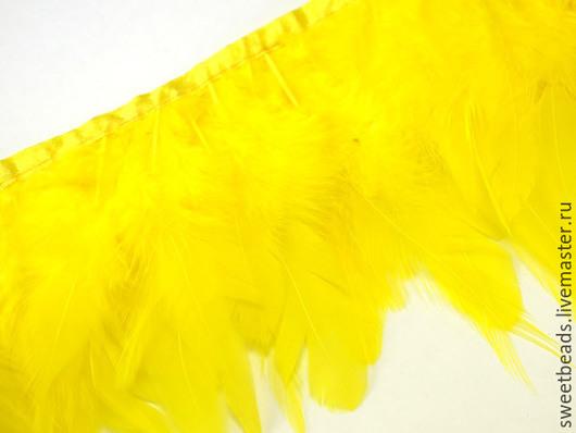 Другие виды рукоделия ручной работы. Ярмарка Мастеров - ручная работа. Купить Перья бахрома, желтая. Handmade. Перья