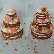 """Пряники ручной работы. Ярмарка Мастеров - ручная работа Имбирные пряники 3D -""""Тортики"""". Handmade."""