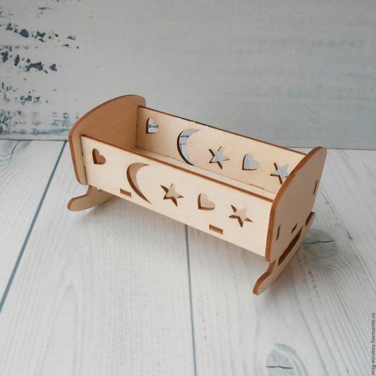 Кукольный дом ручной работы. Ярмарка Мастеров - ручная работа. Купить Кроватка - заготовка. Handmade. Кровать, кроватка для куклы