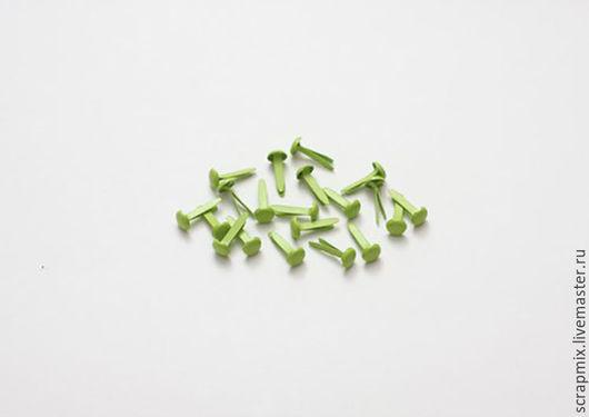 Открытки и скрапбукинг ручной работы. Ярмарка Мастеров - ручная работа. Купить Брадсы зеленые. Handmade. Скрапбукинг, материалы для творчества