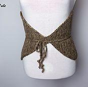 Аксессуары handmade. Livemaster - original item Camel knitted belt warm lumbar. Handmade.