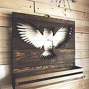 Для дома и интерьера handmade. Livemaster - original item Shelf housekeeper panel owl. Handmade.