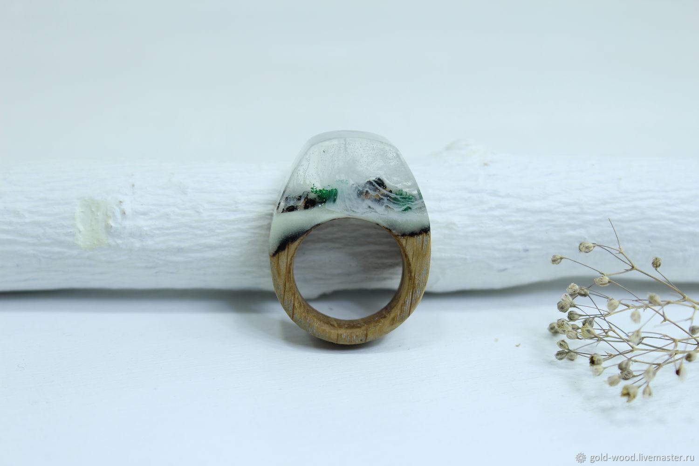 Кольца ручной работы. Ярмарка Мастеров - ручная работа. Купить Деревянное кольцо 16,75 размер, кольцо из дерева. Handmade.