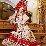 Русский стиль handmade. Livemaster - original item SCARLET POPPIES Costume