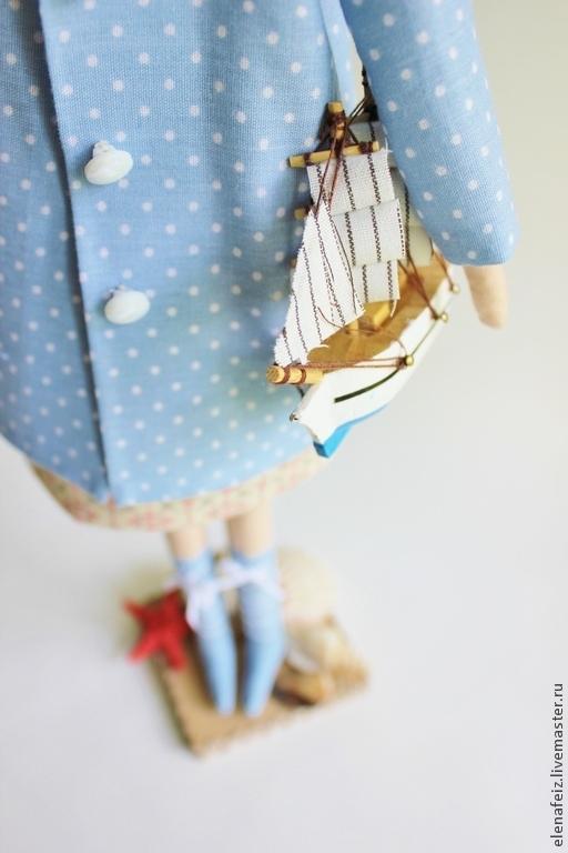 Куклы Тильды ручной работы. Ярмарка Мастеров - ручная работа. Купить Лето в Юрмале. Handmade. Голубой, морская тема, корабль
