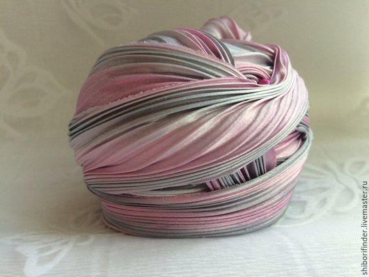 Для украшений ручной работы. Ярмарка Мастеров - ручная работа. Купить №48 Нега Ленты Шибори Silk Ribbons Shibori. Handmade.