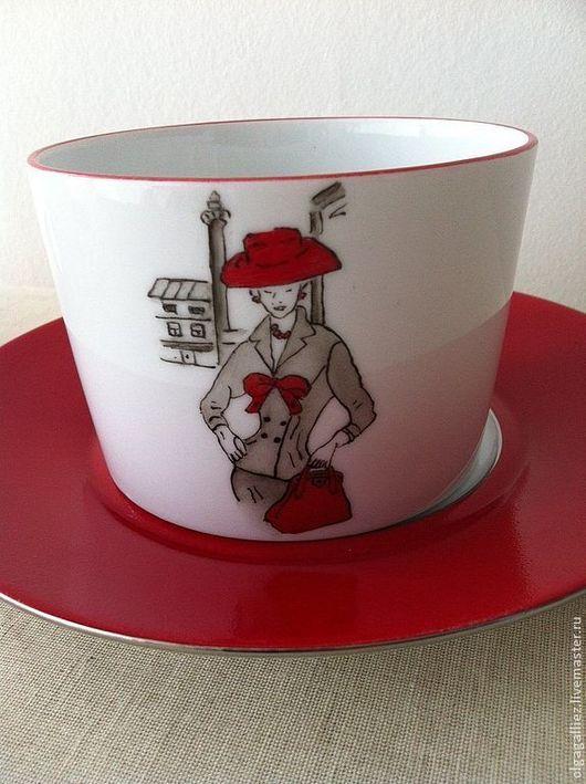 """Сервизы, чайные пары ручной работы. Ярмарка Мастеров - ручная работа. Купить Чайная пара """"Belle de Paris"""". Handmade."""