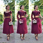 Одежда ручной работы. Ярмарка Мастеров - ручная работа юбка из фатина ( тюля ). Handmade.