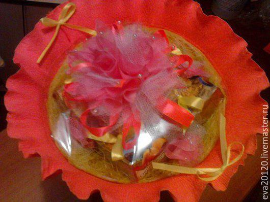 Прекрасный подарок к Дню Учителя букетик из чая и кофе