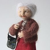 Куклы и игрушки handmade. Livemaster - original item Interior doll is made of wool. Grandma No. 1.. Handmade.