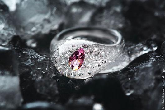 """Кольца ручной работы. Ярмарка Мастеров - ручная работа. Купить Кольцо """"Розовый бриллиант"""" из серии """"Frozen diamonds"""". Handmade."""
