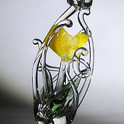 """Украшения ручной работы. Ярмарка Мастеров - ручная работа Кулон""""Желтый тюльпан"""". Handmade."""