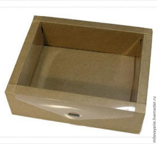 Упаковка ручной работы. Ярмарка Мастеров - ручная работа. Купить Разборная коробка с прозрачной крышкой. Handmade. Коричневый, коробочка для подарка