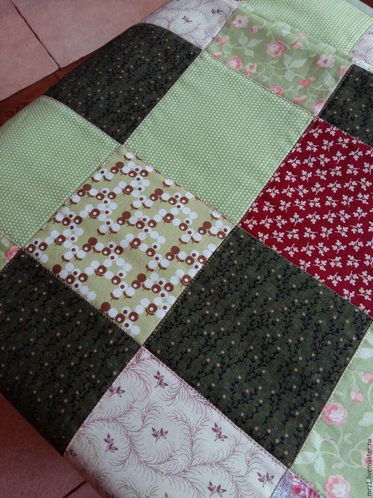 Текстиль, ковры ручной работы. Ярмарка Мастеров - ручная работа. Купить Лоскутный плед. Handmade. Салатовый, яркий