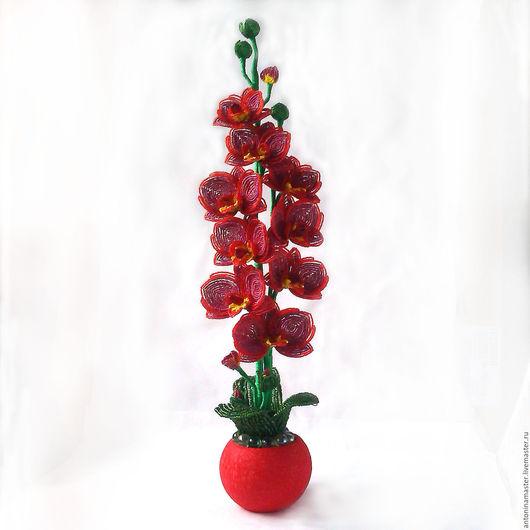 """Цветы ручной работы. Ярмарка Мастеров - ручная работа. Купить СКИДКА 30% Цветы из бисера орхидея """"Восход солнца"""". Handmade."""