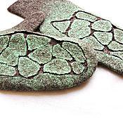 Варежки ручной работы. Ярмарка Мастеров - ручная работа Валяные варежки женские. Handmade.
