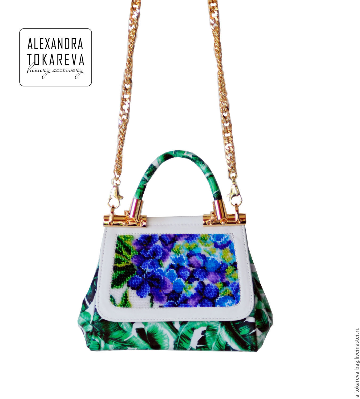 Exclusive handmade handbag with a unique beaded 'Li, Classic Bag, Kiev,  Фото №1