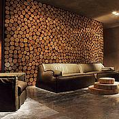 Для дома и интерьера ручной работы. Ярмарка Мастеров - ручная работа Стена или панно из срезов/спилов. Handmade.