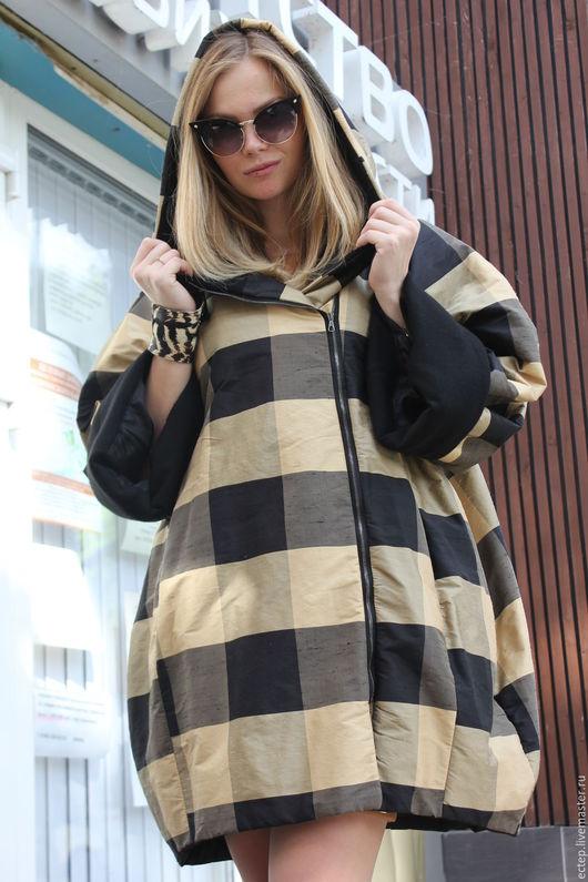 """Верхняя одежда ручной работы. Ярмарка Мастеров - ручная работа. Купить Пальто из плащевки """"Чесуча"""". Handmade. Дизайнерская одежда"""
