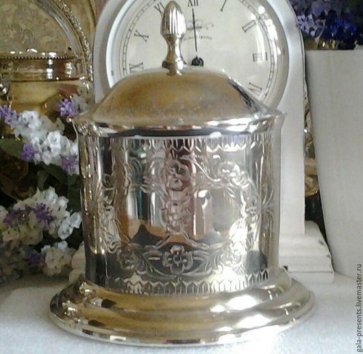 Винтажная посуда. Ярмарка Мастеров - ручная работа. Купить -10% Бисквитница старинная Англия антиквариат середина 20в. Handmade. Серебряный