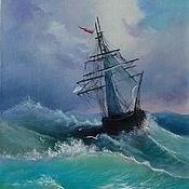 Картины и панно handmade. Livemaster - original item Picture of the seascape After the storm oil painting. Handmade.